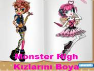 Monster High Kızlarını Boya